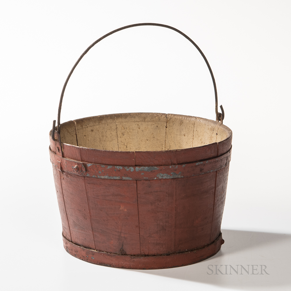 Shaker Red-painted Pail
