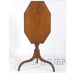 Federal Cherry Tilt-top Candlestand,