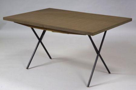 George Nelson Walnut Veneer Table
