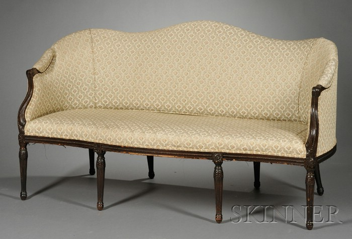 George III Carved Mahogany Settee in the French Taste