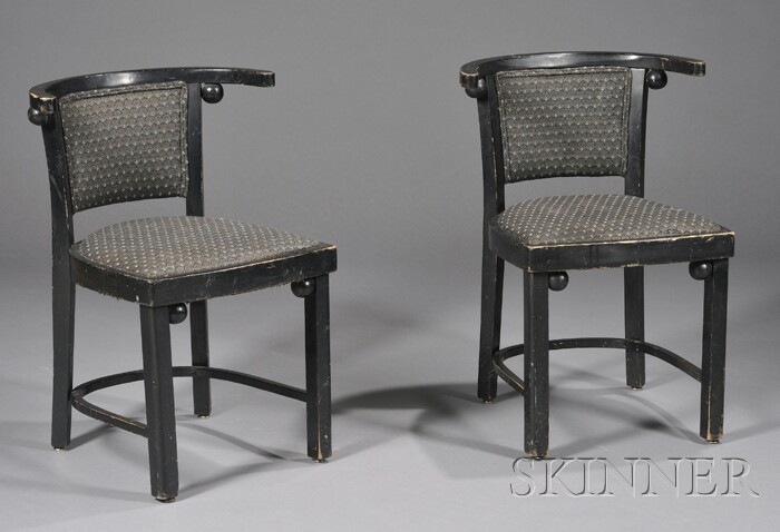Two Side Chairs Design by Josef Hoffmann
