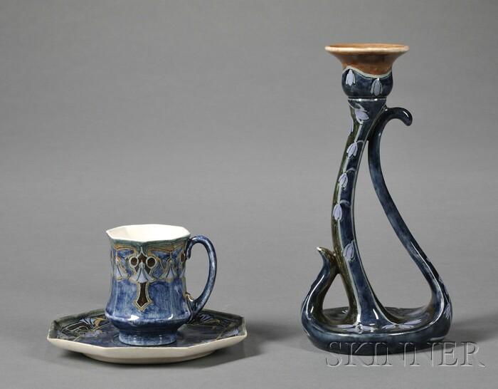 Two Utrecht High Glaze Pottery Items