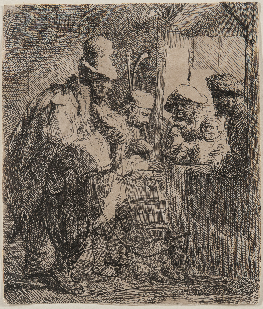 Rembrandt van Rijn (Dutch, 1606-1669)      The Strolling Musicians