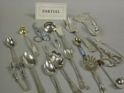 Sixty-five Assorted Sterling and Silver Plated Flatware Items