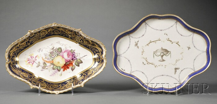 Two English Porcelain Serving Dishes