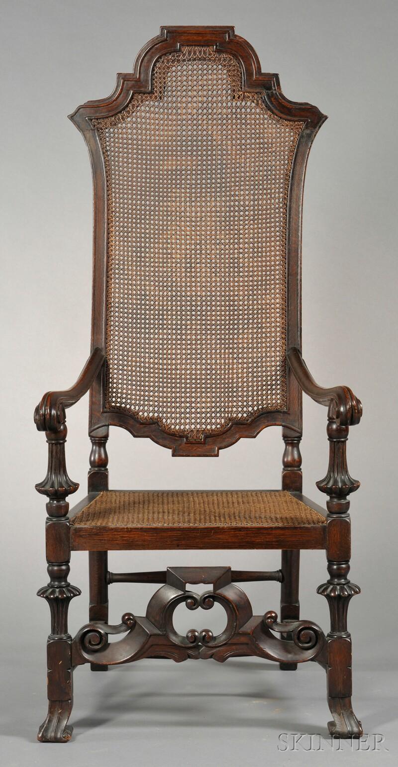 Baroque-style High-back Armchair