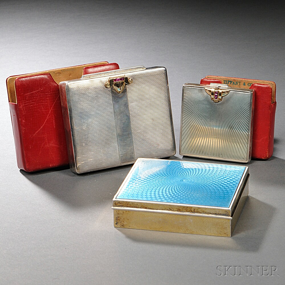Three American Sterling Silver Cases