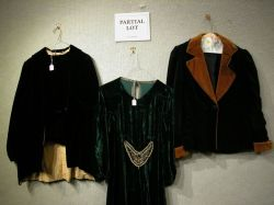 Fur-Trimmed and Painted Decorated Velvet Cape and a Group of Early 20th Century Womens Clothing.