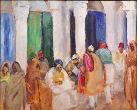 Martha Walter (American, 1875-1976)    Souks at Tripoli, North Africa