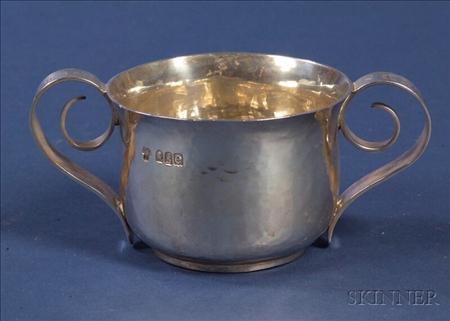 Edward VII Britannia Standard Silver Caudle Cup