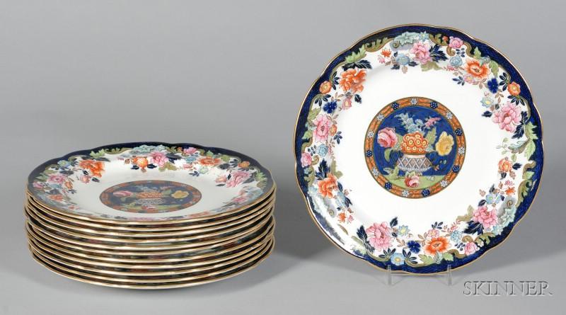 Set of Twelve Copeland/Late Spode Earthenware Plates