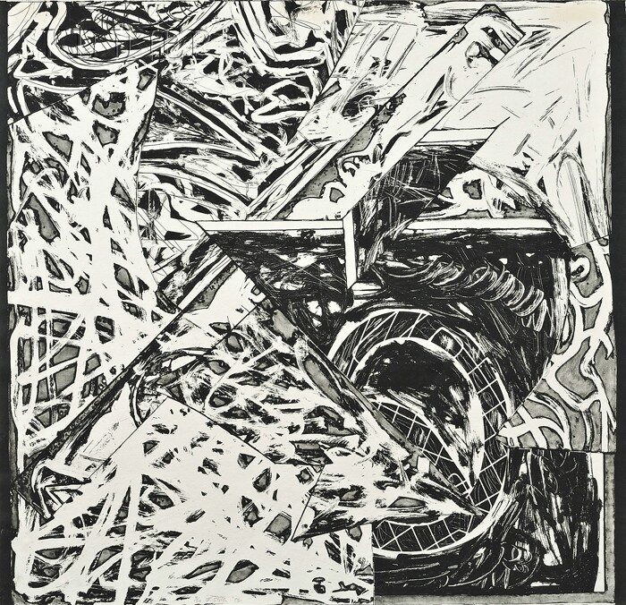 Frank Stella (American, b. 1936)      Swan Engraving VII