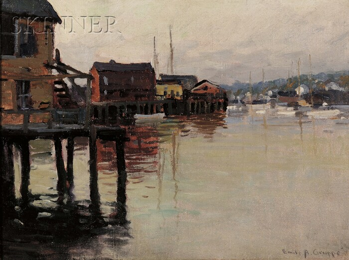 Emile Albert Gruppé (American, 1896-1978)      Quiet Wharfs