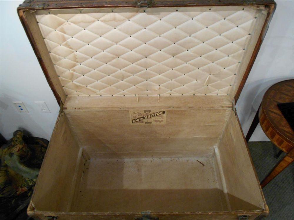 Louis Vuitton Cloth-bound Steamer Trunk