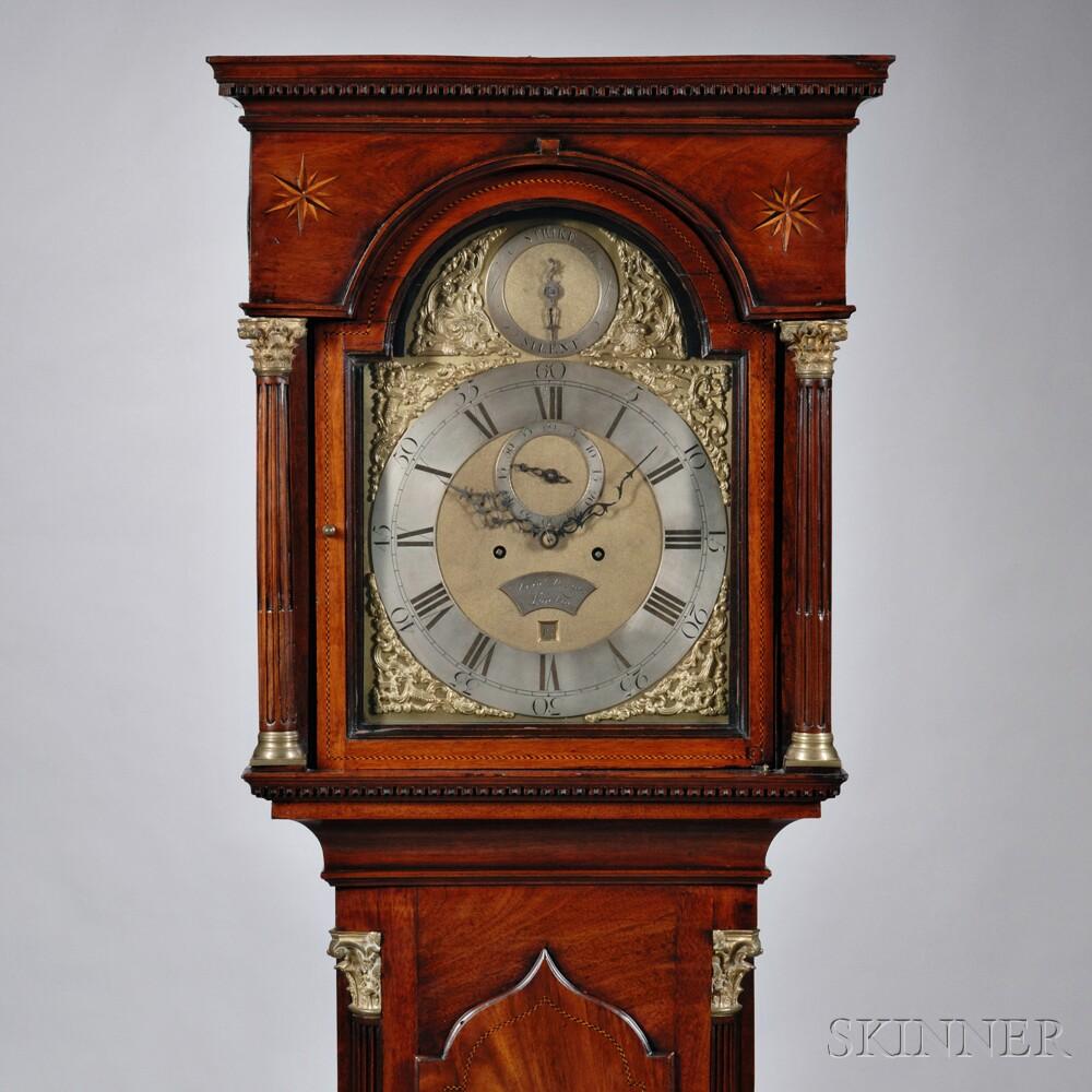 John Downes Mahogany Longcase Clock