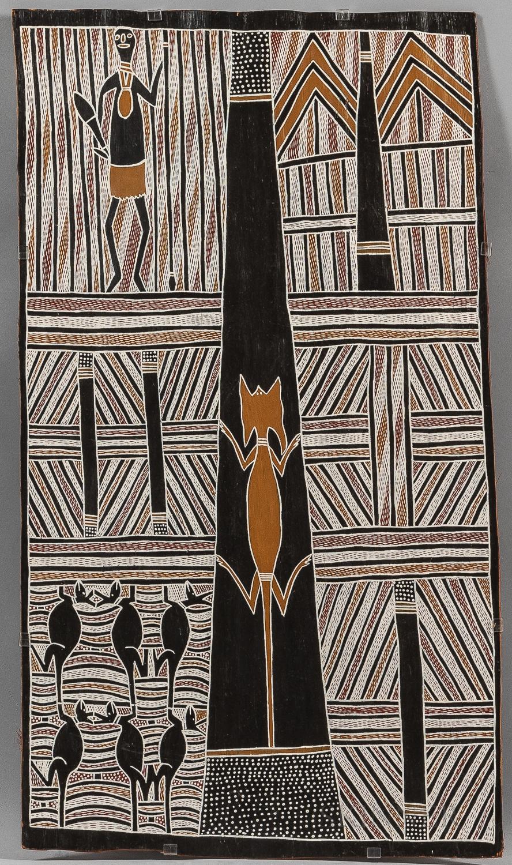 Australian Aborigine Bark Painting