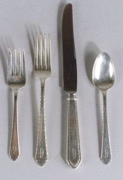 """Rogers, Lunt & Bowlen Sterling """"William and Mary"""" Pattern Partial Flatware Service"""