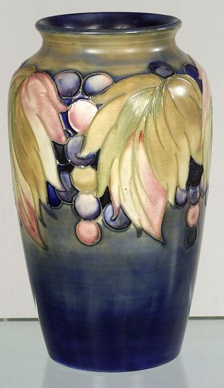 Moorcroft Leaf and Grape Decorated Vase