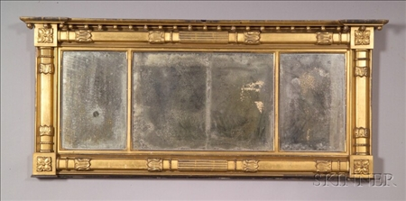 Classical Gilt Gesso and Wood Overmantel Mirror