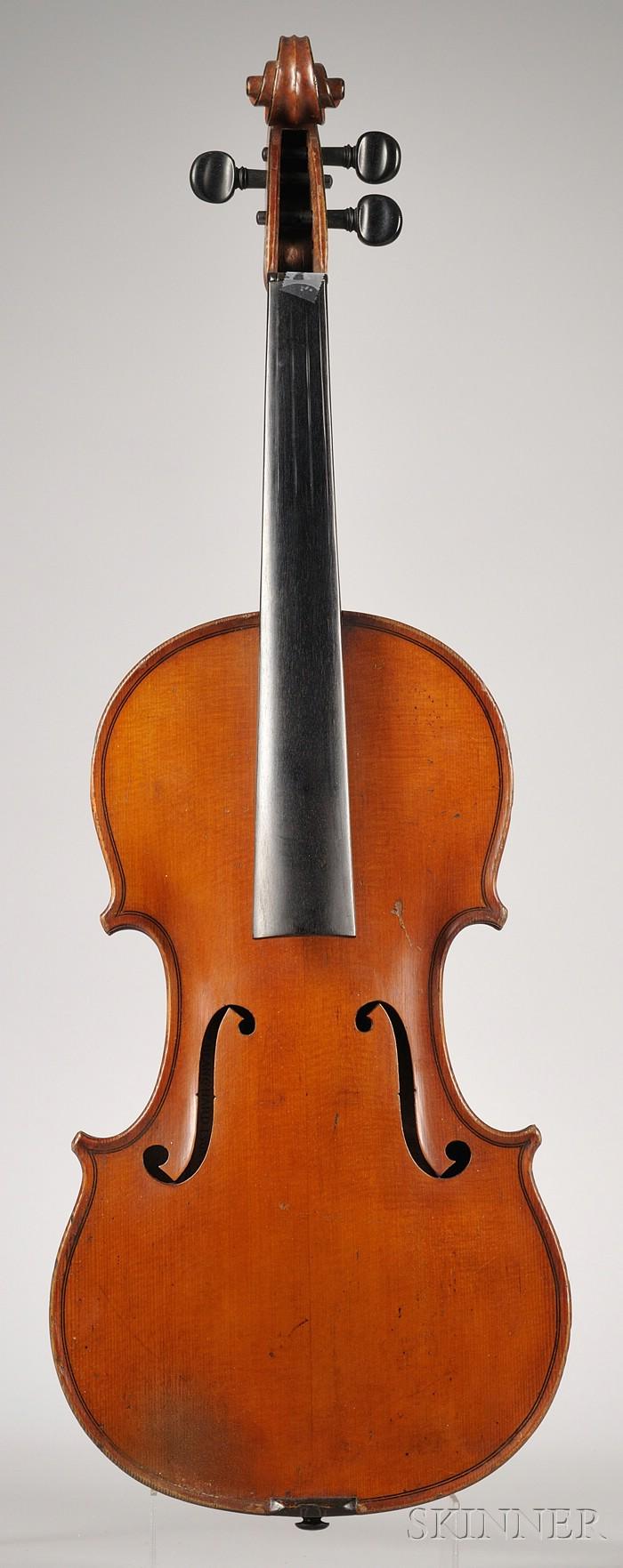 French Violin, Paul Blanchard Workshop, Lyon, 1899
