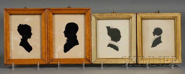 Four Hollow-cut Silhouette Portraits