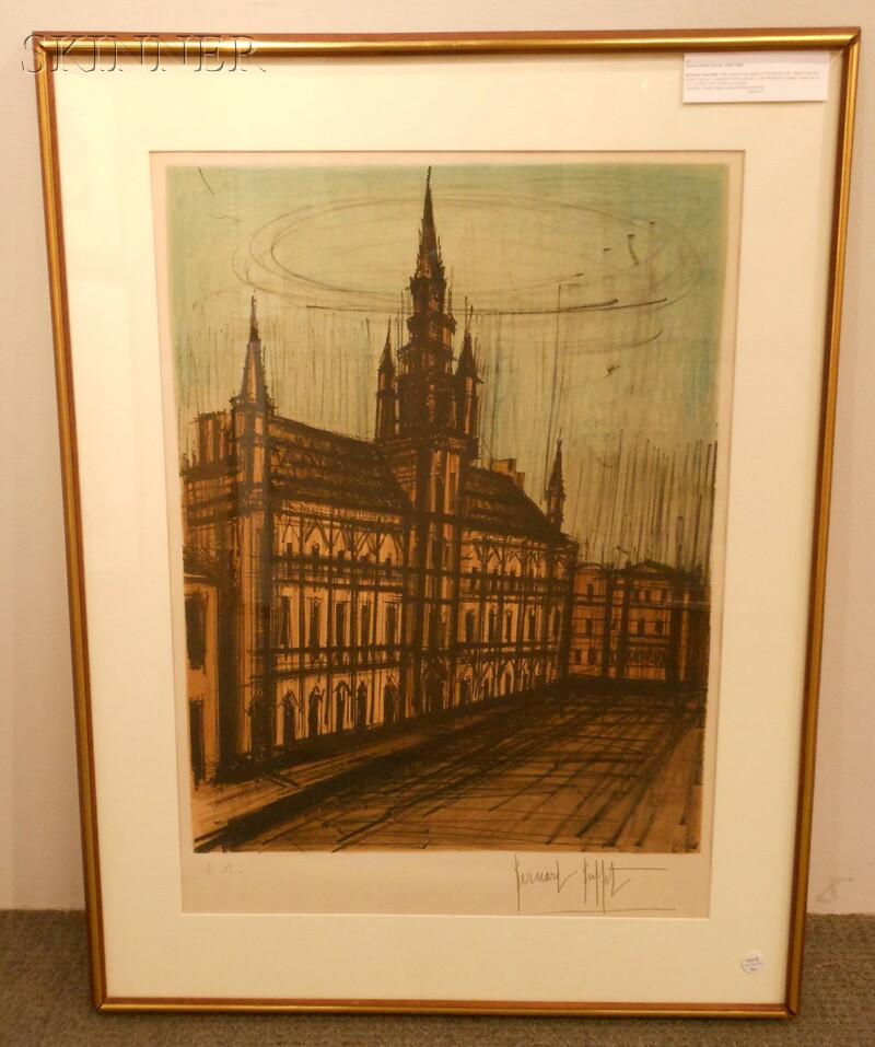 Bernard Buffet (French, 1928-1999)      Brussele Town-Hall