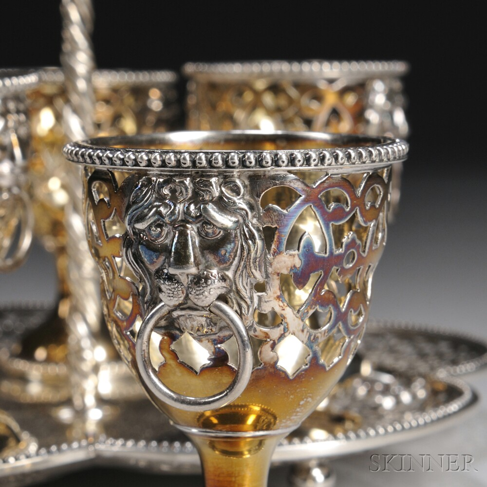 Victorian Sterling Silver Egg Cup Holder