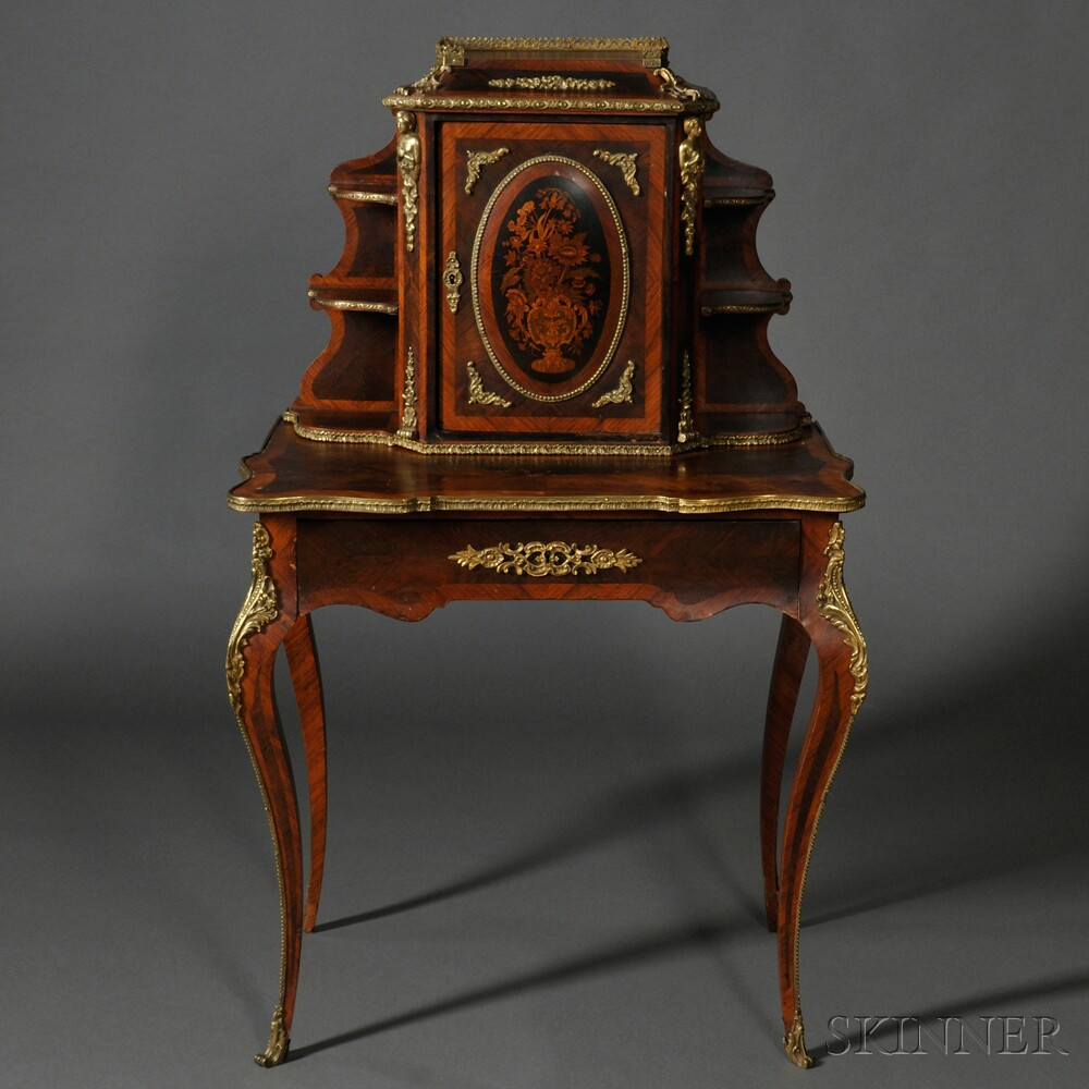 Louis XV-style Ormolu-mounted Lady's Writing Desk