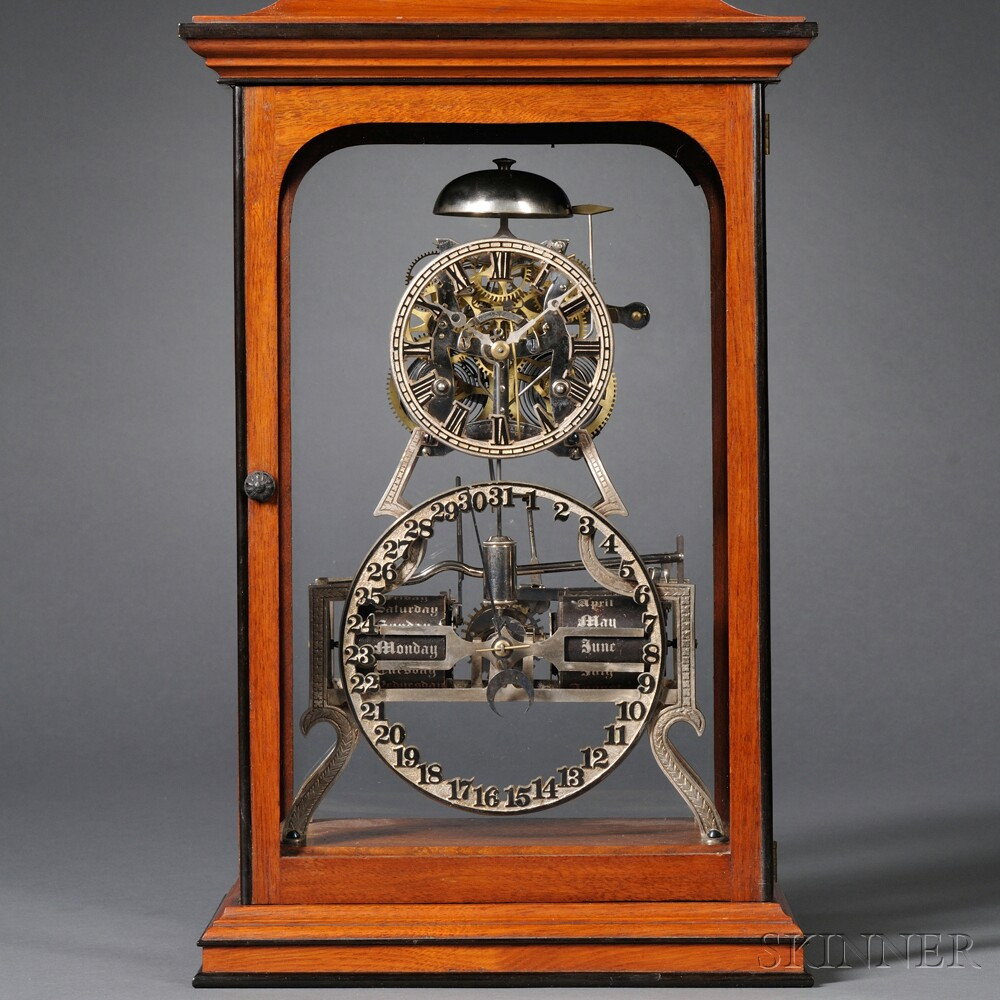 Standard Box Skeleton Clock by Ithaca Calendar Clock Company