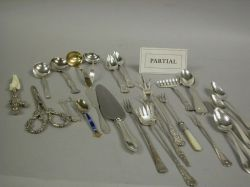 Group of Assorted Sterling and Silver Plated Flatware Items