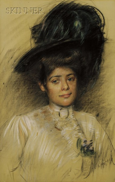 Manner of Paul Cesar Helleu (French, 1859-1927)      Portrait of a Woman.