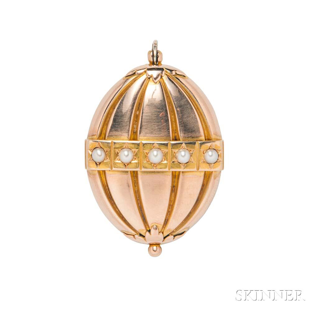 14kt Gold and Split-pearl Locket