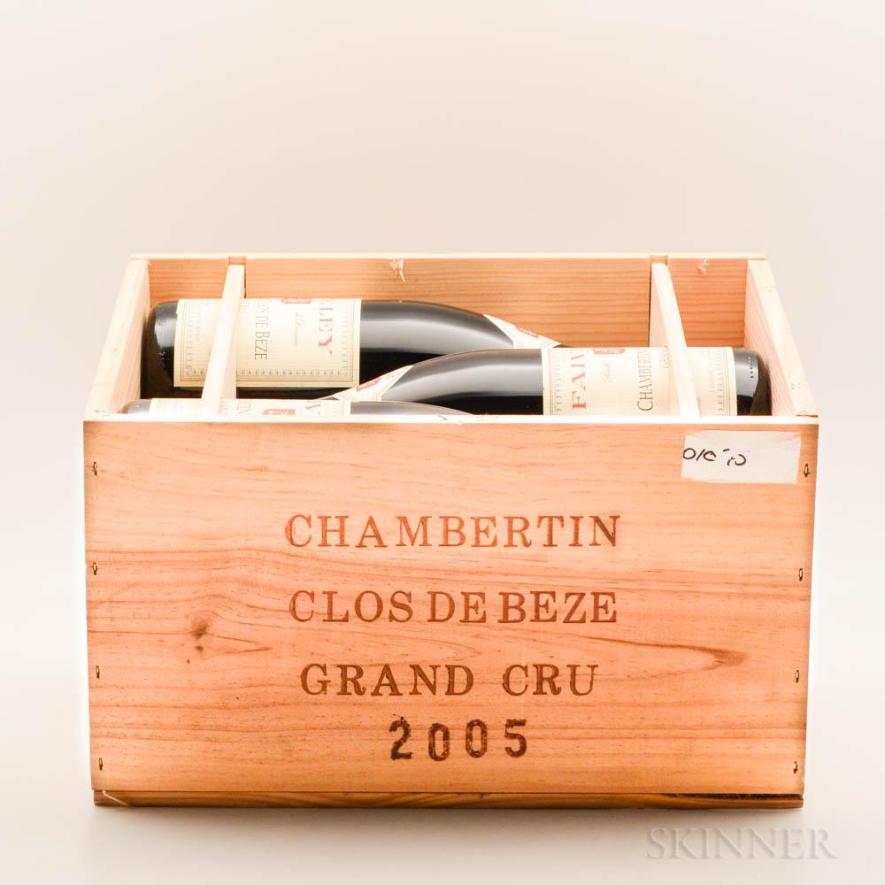 Faiveley Chambertin Clos de Beze 2005, 6 bottles (owc)