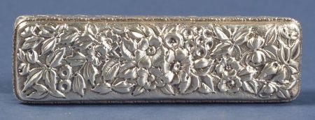 American Sterling Repousse Dresser Box