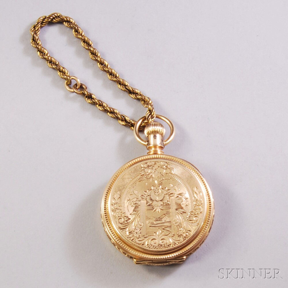 14kt Gold Illinois Hunting Case Pocket Watch