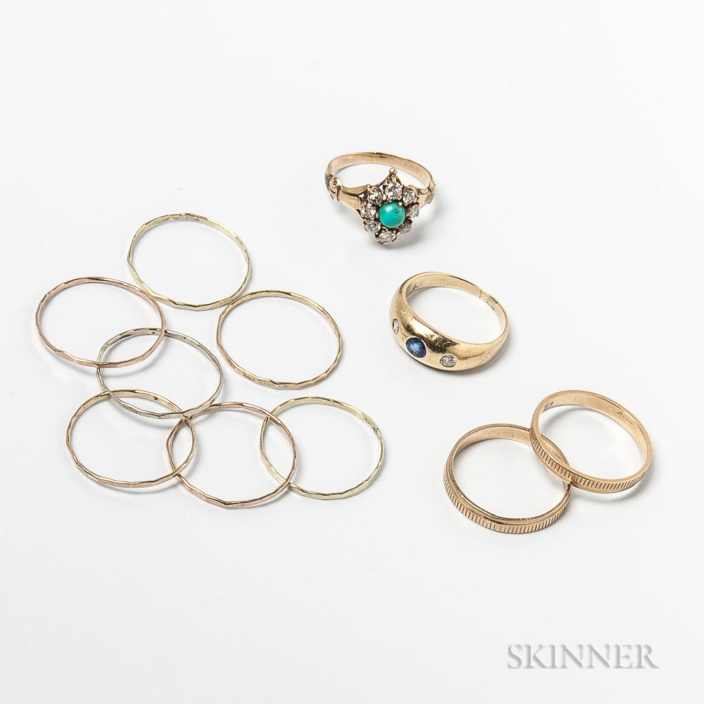 Group of Gold Rings
