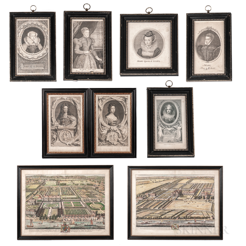 Nine Early Framed Engravings