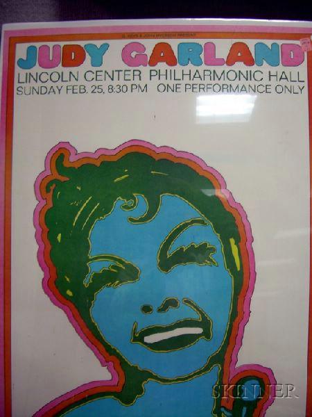 Judy Garland Chromolithograph Concert Poster, 1968