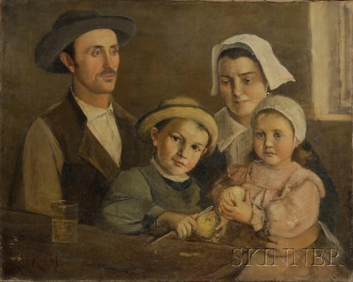 French School, 19th Century      Family