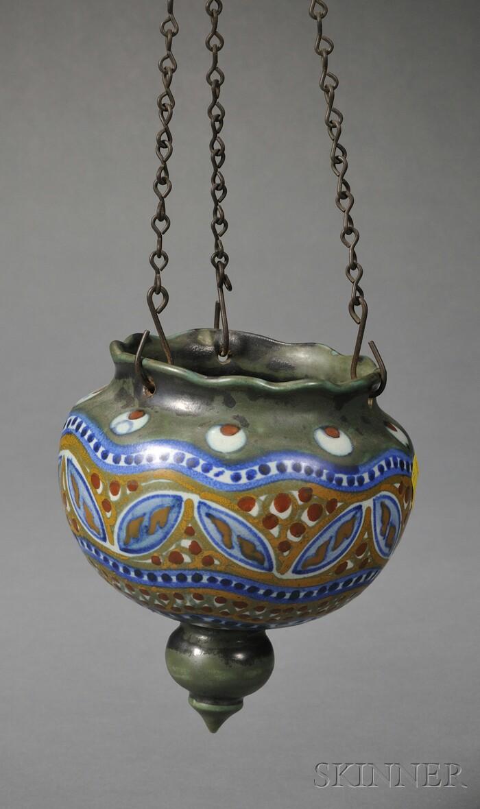 Gouda Matte Glaze Pottery Hanging Flowerpot