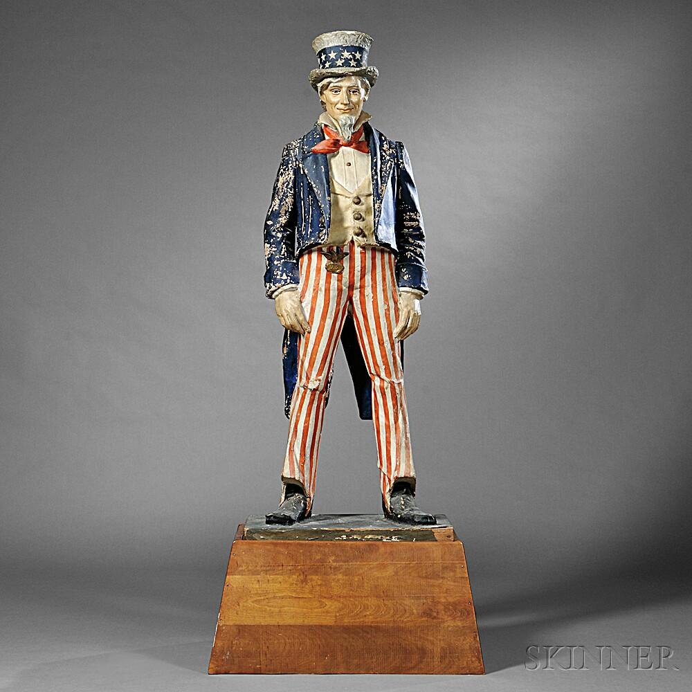 Polychrome Papier-mache Uncle Sam Figure | Sale Number 2757B, Lot ...