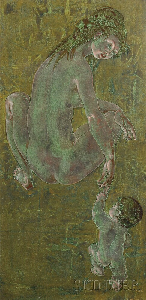 Hans Erni (Swiss, 1909-2015)      Mother and Child