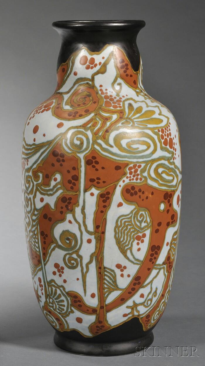 Gouda Semi-matte Glaze Breetvelt Pottery Vase