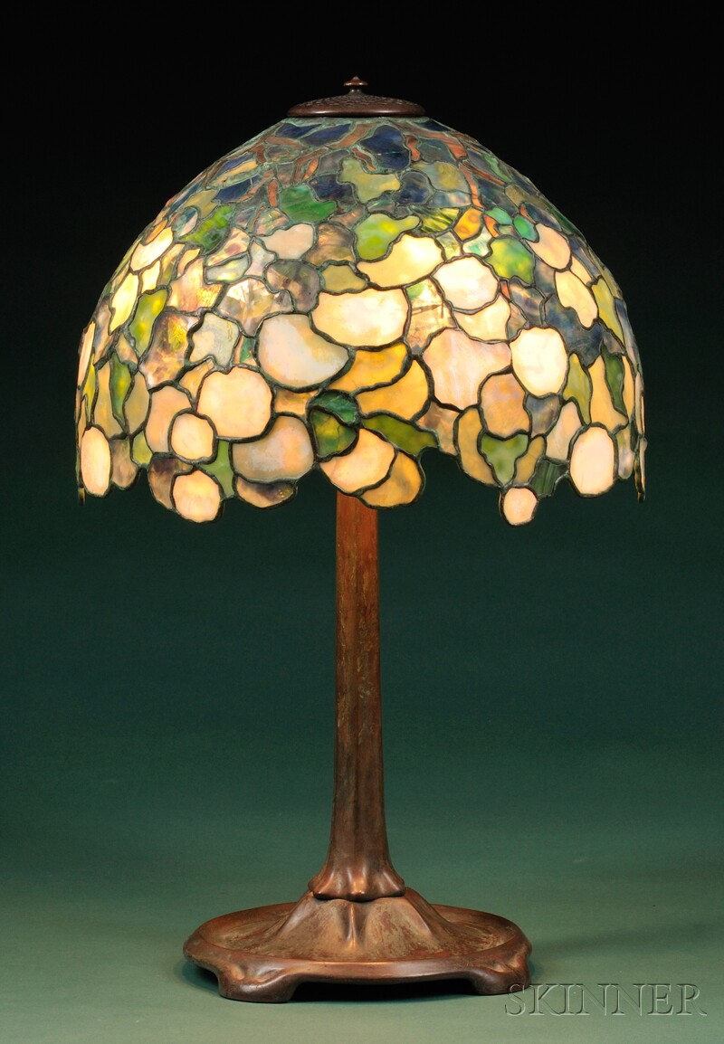 Snowball Mosaic Glass Table Lamp