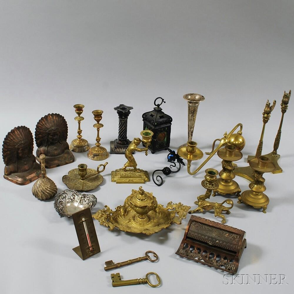 Twenty-three Assorted Metal Items