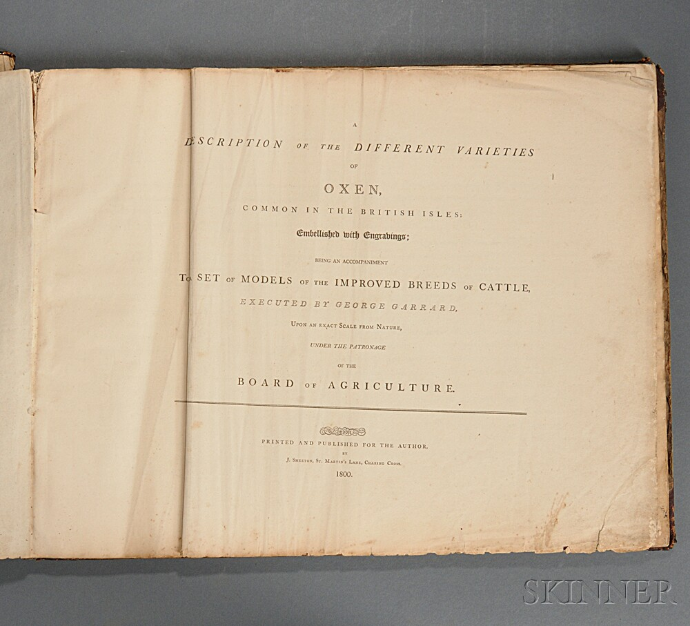 Garrard, George (1760-1826) A Description of the Different Varieties of Oxen Common in the British Isles.