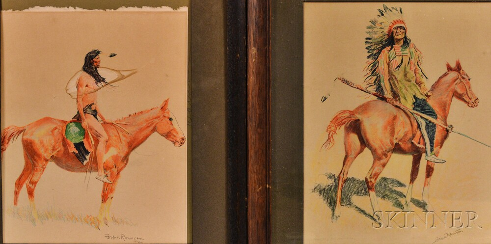 Frederic Remington (American, 1861-1909)    Three Images from A Bunch Of Buckskins