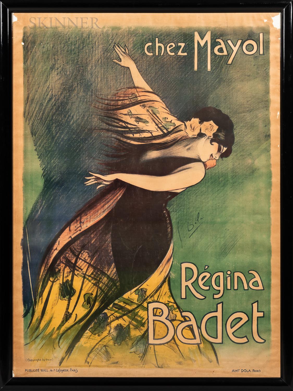 Georges Dola (French, 1872-1950)      Advertising Poster: Régina Badet, Chez Mayol
