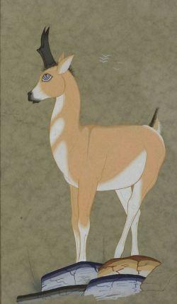 Manuel Chavez (Cochiti, b. 1915)  Gouache Painting