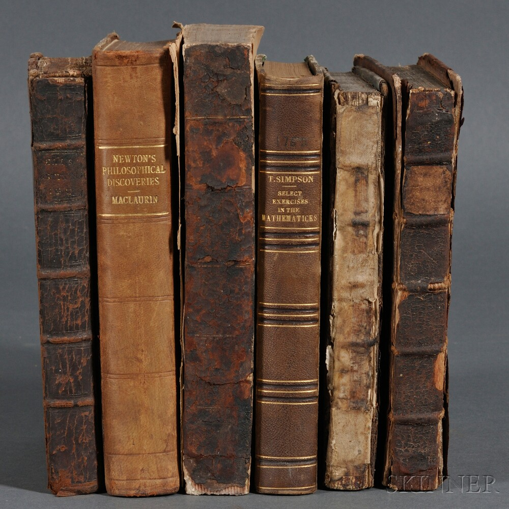 Mathematics, English, Six Volumes, 1705-1800.